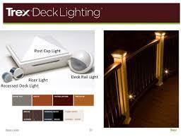 trex post cap lights trex aia decking presentation