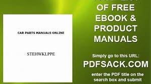 car parts manuals online video dailymotion