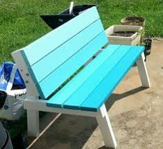 picnic table converts to bench diy picnic table for kids i love the color she painted it