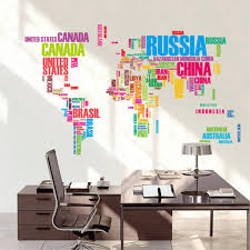 sales world map letter quote removable decal art mural home