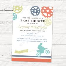 dirt bike baby shower invitation printable file or printed