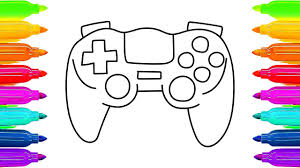 how to draw gamepad controller coloring book for children art