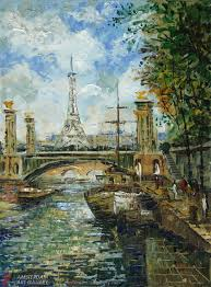 paintings of landmarks easily recognized and associated with