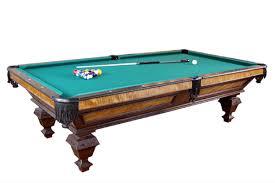how big is a full size pool table classic full size pool table dorset custom furniture