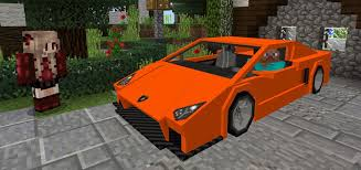 lamborghini car sports car lamborghini add on minecraft pe mods addons