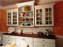 wooden open kitchen shelves over black countertop types of