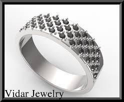 mens black diamond wedding band mens white gold black diamond wedding band vidar jewelry