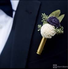 bullet flowers navy blue andivory bullet casing boutonniere bullet shell