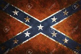 Civil War Rebel Flag Vintage Close Up Of Confederate Flag Grunge Background Stock