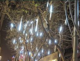 white led meteor shower lights for outdoor tree
