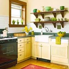 Green And Blue Kitchen Small Kitchen Designs In Yellow And Green Colors Accentuated With