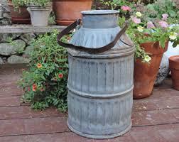 antique pot metal ls antique milk can etsy