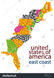 East Coast Of Florida Map by Usa East Coast Vector Map Stock Vector 71431714 Shutterstock