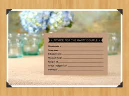 printable fill in the blank wedding advice cards for weddings or