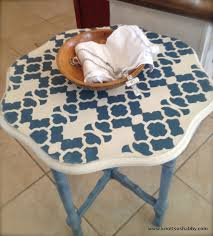 Decorative Bowls Home Decor Furniture Stenciled Old Orange Oak Table Flower Shaped Harlequin