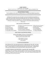 Nursing Resume Examples New Grad by Resume Sample Nursing Graduates