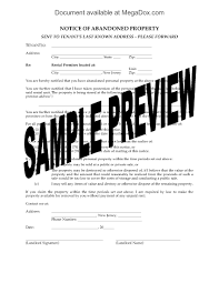 Letter Of Intent To Purchase Property by New Jersey Notice Of Abandoned Property Legal Forms And Business