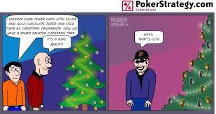 news poker cartoon christmas tree