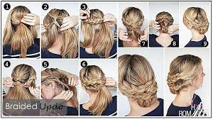 prom updo instructions gorgeous braided hairstyles you can do in less than 10 minutes