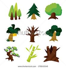set nine different cute cartoon vector stock vector 278045549