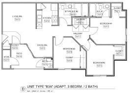 3 bed 2 bath floor plans floor plans monarch apartments