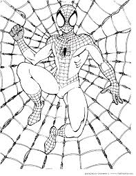 printable coloring pages spiderman spiderman coloring pictures for kids 317434