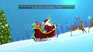 merry christmas 2016 u0026 santa claus u0027 sleigh after efects project
