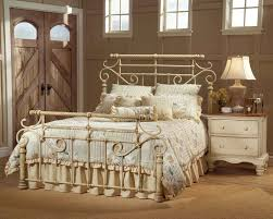 Antique White Metal Bed Frame Antique Iron Bed Steel Bed Frame White Metal King Bed