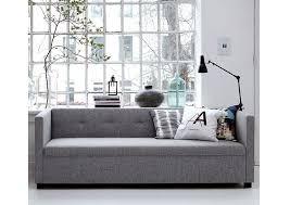 house de canapé canapé 3 places botton gris clair house les esthètes