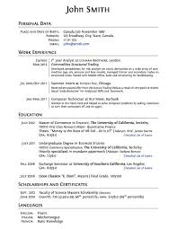 best resume format pdf or word libreoffice resume template curriculum vitae sle format