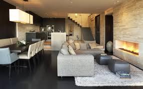 salon salle a manger cuisine salle à manger contemporaine dans le petit domicile mais oui