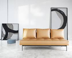 Camel Leather Chair Sly Deluxe Q Sofa Bed Camel Leather Textile By Innovation