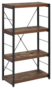 acme bob bookcase weathered oak industrial bookcases by