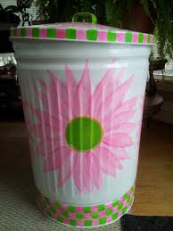 decorative watering cans 30 gallon decorative hand painted galvanized metal trash can w