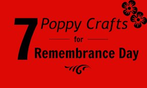 7 poppy crafts for remembrance day creative sides