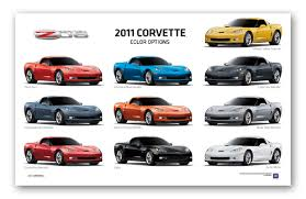 corvette z06 colors z06 c6 corvette exterior colors poster chevymall