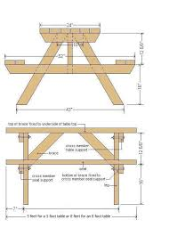picnic table plans in metric valliew pinterest picnic table