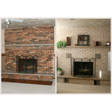 black painting brick fireplace u2014 jessica color simple way to