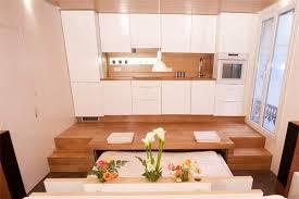 cuisine estrade cuisine sur estrade studio 1 loft small spaces tiny