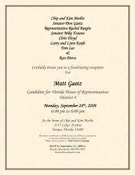 Invitation Card Format For Seminar Political Fundraiser Invitations Online Candidate Regular