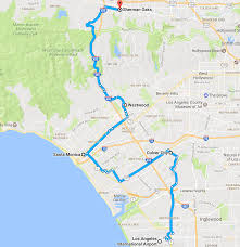 Greater Los Angeles Map by Map Shows The Tunnel Route Of Elon Musk U0027s Boring Company Inverse
