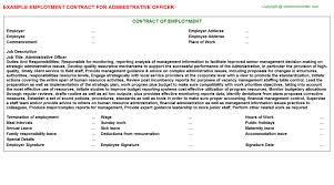 Administrative Officer Resume Sample by Administrative Officer Employment Contract