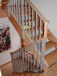 Banister Decor Stair Fantastic Half Turn Staircase Decoration With Light Brown