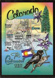 Map Of Colorado State by Colorado Lovely Letters U0026 Postcards For Maryam