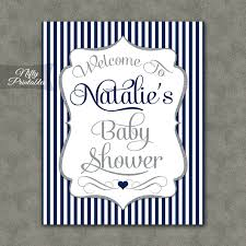 baby shower sign navy silver boy baby shower welcome sign nifty printables