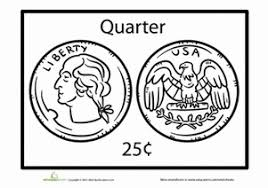 coloring pages quarter quarter worksheet education