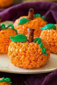 pumpkin rice krispie treats cooking