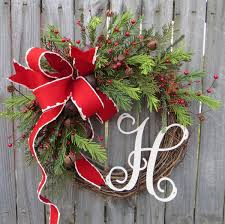 grapevine wreath with rustic bells