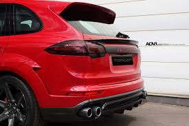 red porsche black wheels red porsche cayenne adv6 m v2 sl wheels brushed liquid smoke