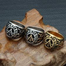 male rings vintage images Vintage freemasonry masonic rings gold silver stainless steel jpg